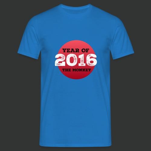 2016 year of the monkey - Men's T-Shirt