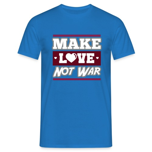 Make_love_not_war by Lattapon - Herre-T-shirt