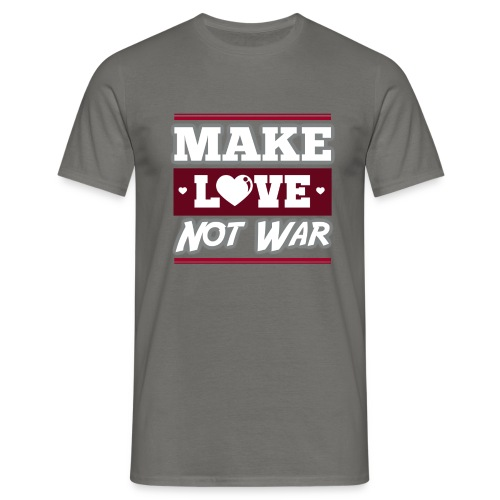 Make_love_not_war by Lattapon - Herre-T-shirt