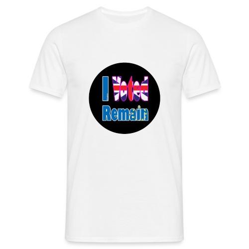 I Voted Remain badge EU Brexit referendum - Men's T-Shirt