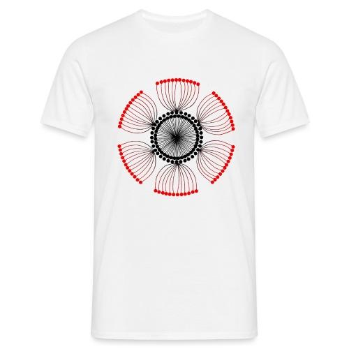 Red Poppy Seeds Mandala - Men's T-Shirt