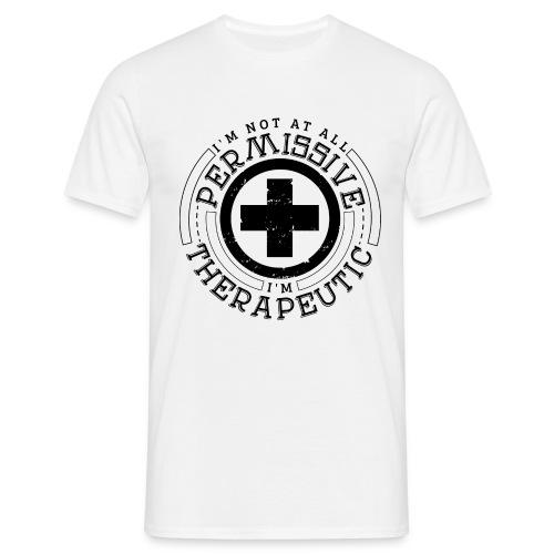I'm Not Permissive (White) - Men's T-Shirt