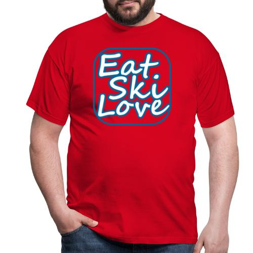 eat ski love - Mannen T-shirt