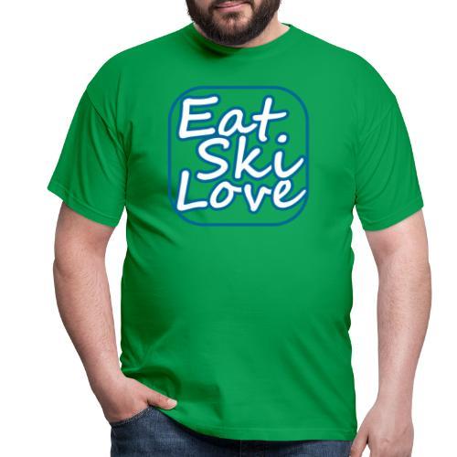 eat ski love - Mannen T-shirt