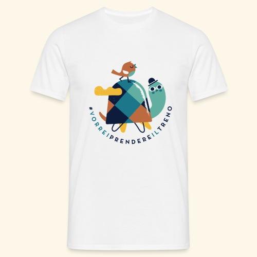 Tartaruga e uccellino - Maglietta da uomo