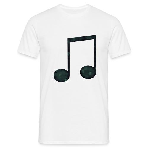 Low Poly Geometric Music Note - Men's T-Shirt