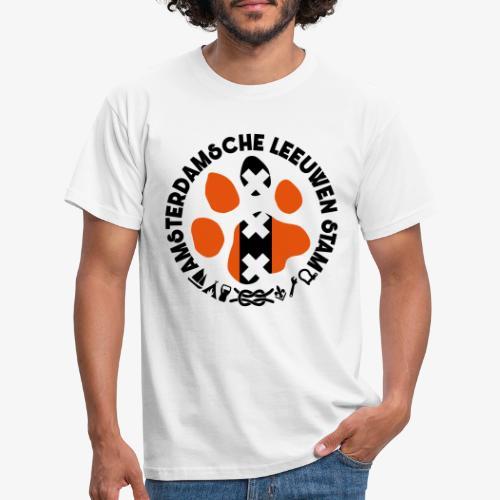 ALS witte rand licht - Mannen T-shirt