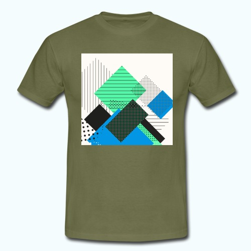 Abstract rectangles pastel - Men's T-Shirt