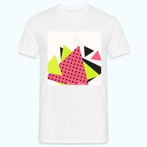 Neon geometry shapes - Men's T-Shirt