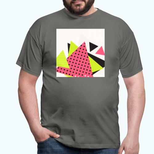 Neon geometry shapes - Men's T-Shirt