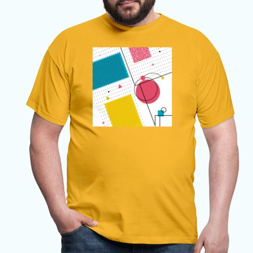 Colors shapes abstract - Men's T-Shirt