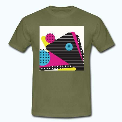 Abstract vintage shapes pink - Men's T-Shirt