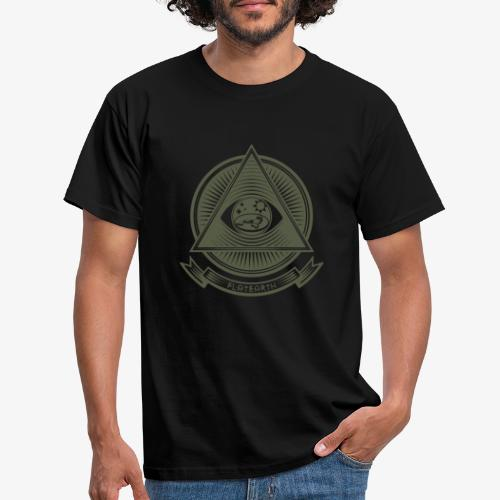 Illuminati Flat Earth - Men's T-Shirt
