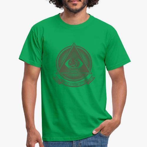 Illuminati Flat Earth - Men's T-Shirt