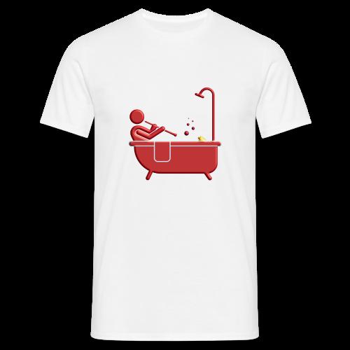 Badewannen Oboist - Männer T-Shirt