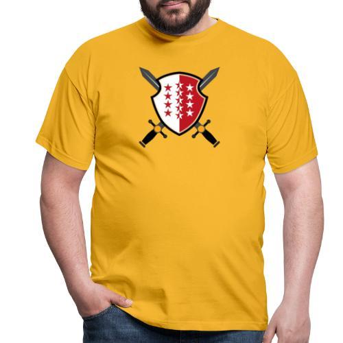 Valais avec épées - Männer T-Shirt