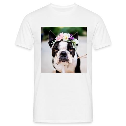 Blumenhund - Männer T-Shirt