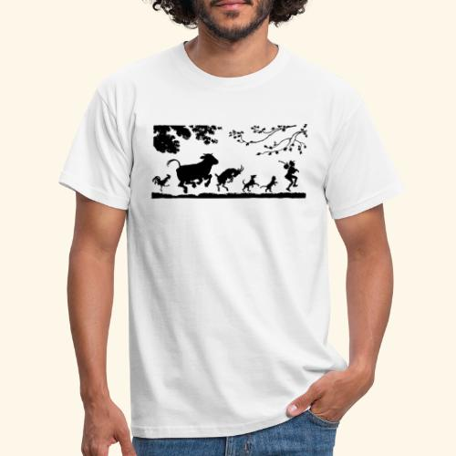 animales caminando - Camiseta hombre