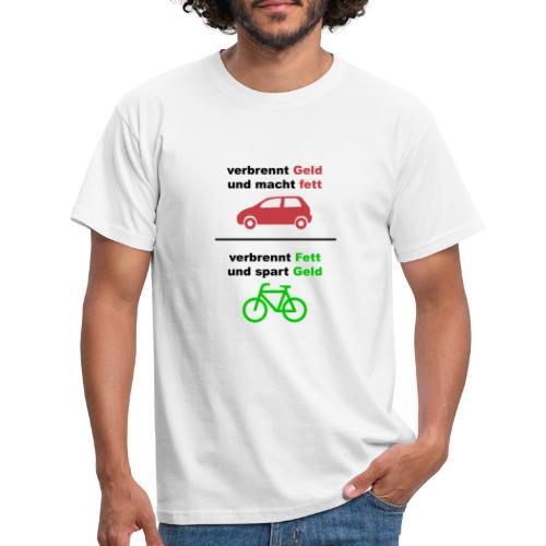 Spart Geld und verbrennt Fett Shirt Vorne - Männer T-Shirt