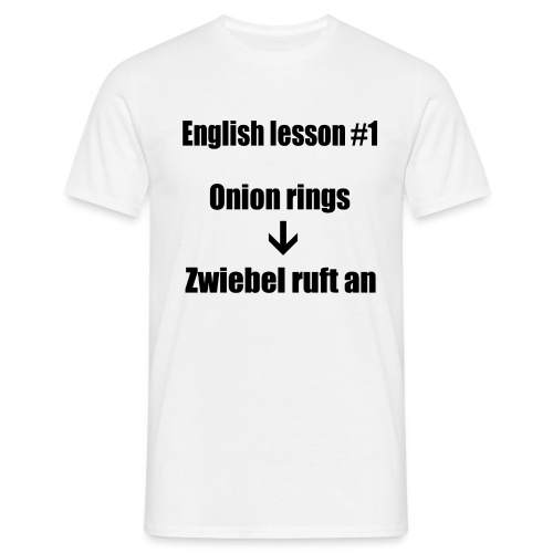 english lesson #1 - Männer T-Shirt