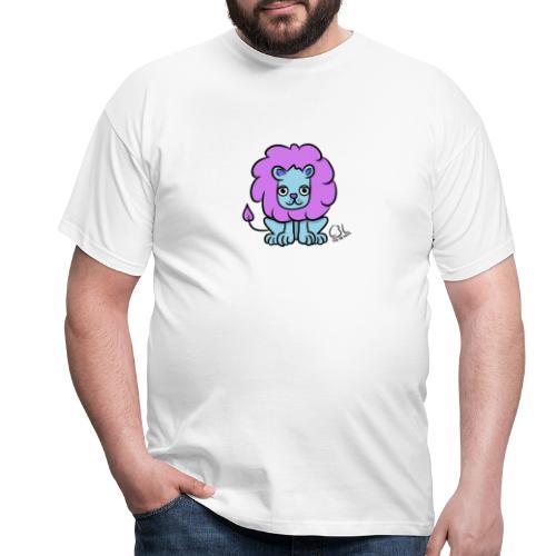 Löwe Fridolin in Farbe - Männer T-Shirt