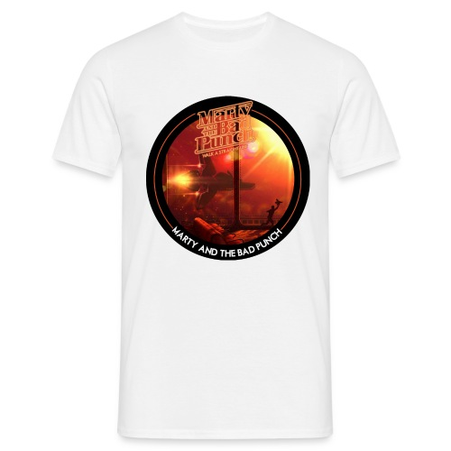 Round Cover / Marty And The Bad Punch - Men's T-Shirt
