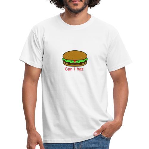 Can I haz hamburger. - Mannen T-shirt