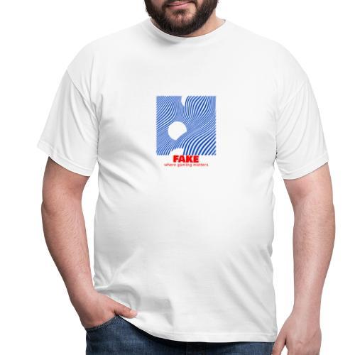 FAKE logo - T-skjorte for menn