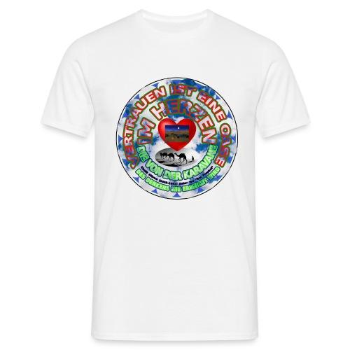 Oase im Herzen - Männer T-Shirt