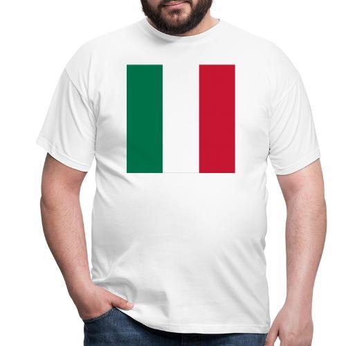italy square flag - Men's T-Shirt