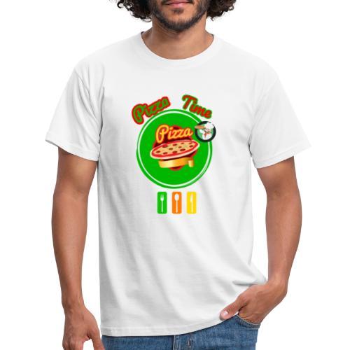 Pizzazeit pizza time - Männer T-Shirt