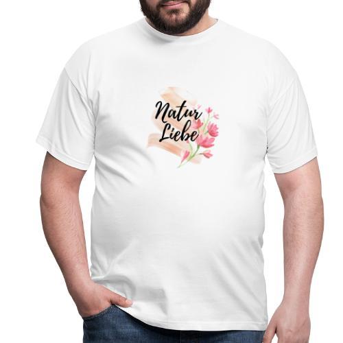 Natur Liebe Logo Pastell - Männer T-Shirt