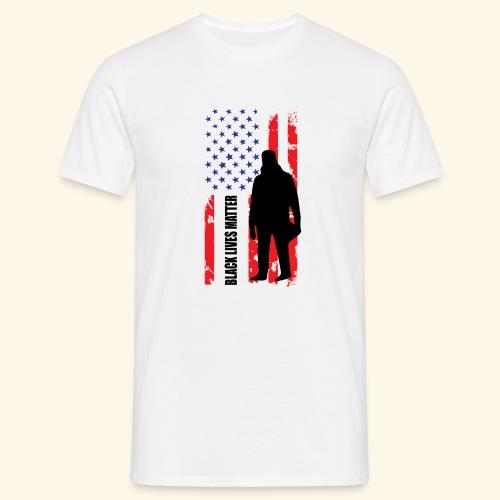 Black Lives Matter - Flagge - Männer T-Shirt