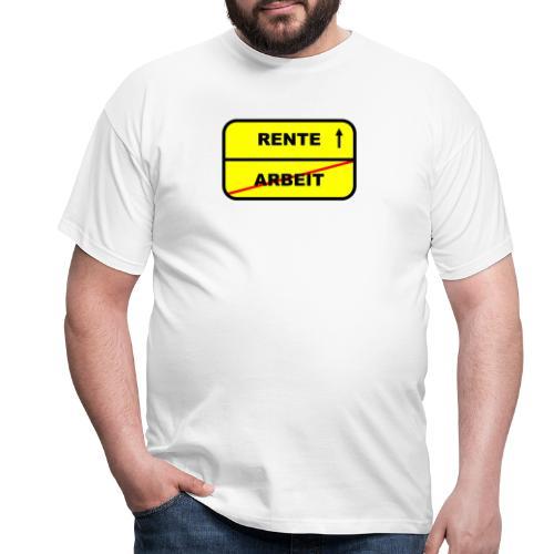 Geschenk Rente - Männer T-Shirt