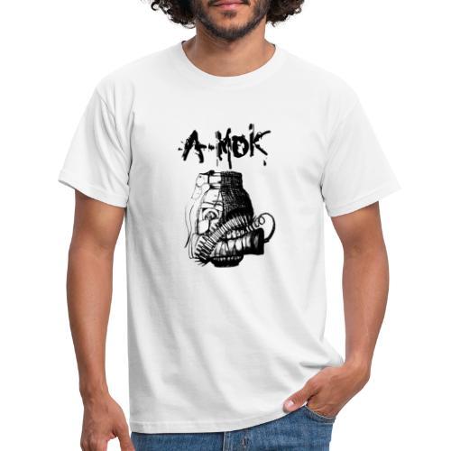 AMOK Grenade Logo Schwarz - Männer T-Shirt
