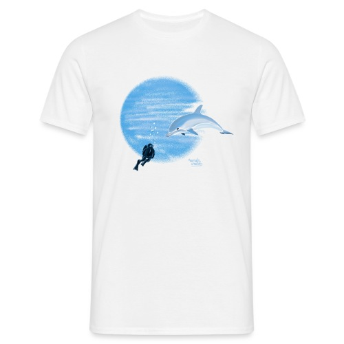 Dolphin and diver - Maillots - T-shirt Homme