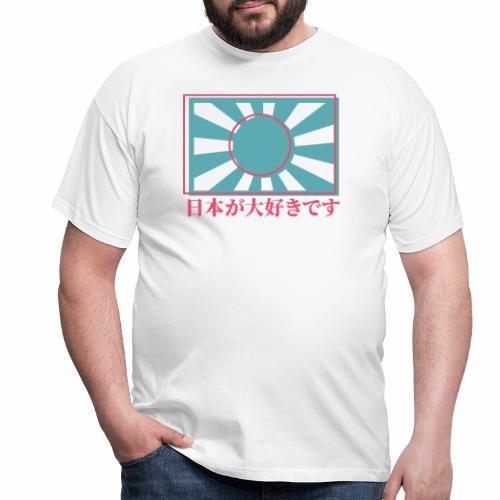 Rising sun I love Japan - Men's T-Shirt