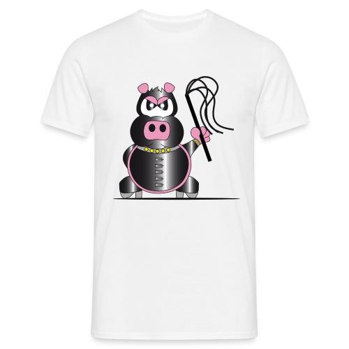 Schweinchen Sado - Männer T-Shirt