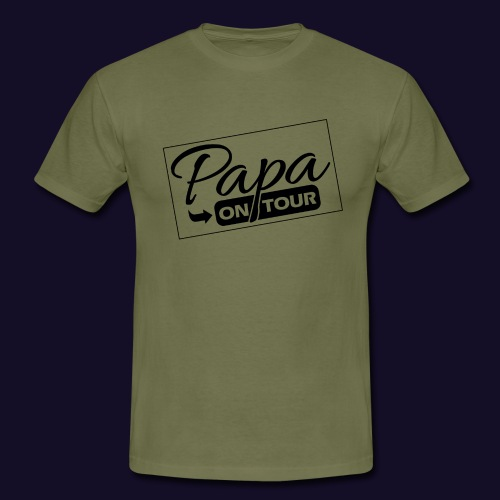 papa on tour - Männer T-Shirt
