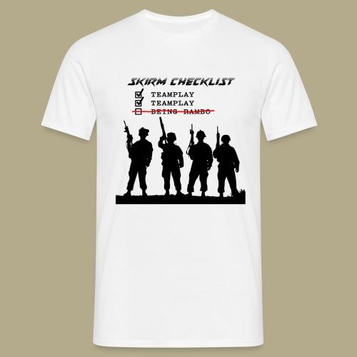 Skirm Checklist - Mannen T-shirt