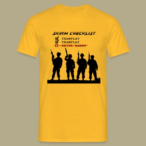 Skirm Checklist - Mannen T-shirt