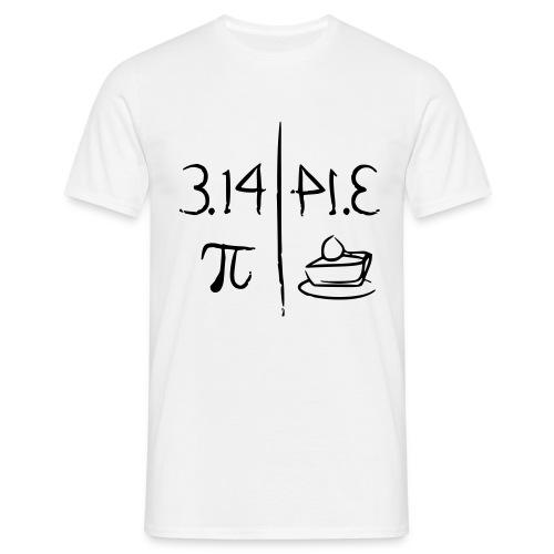 pi vs pie - Men's T-Shirt