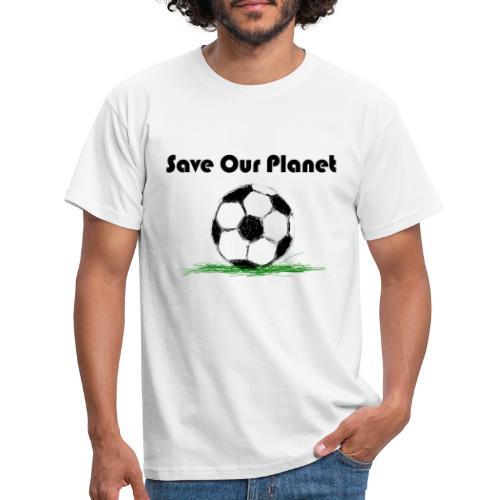 Save our Planet black typo - Männer T-Shirt