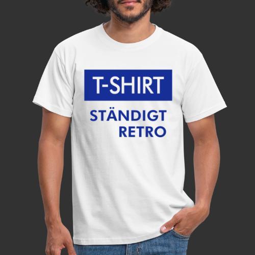 BLÅVITT T-SHIRT - T-shirt herr