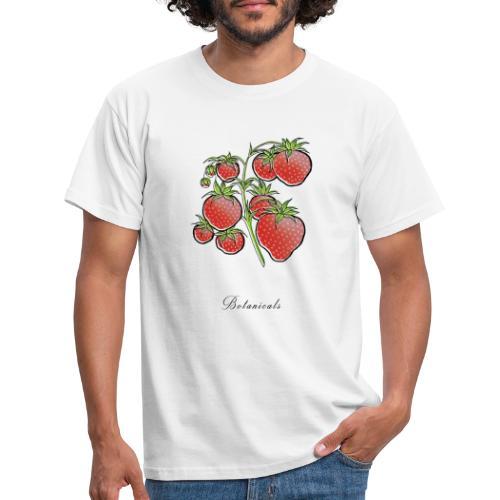 Disegno pianta di fragole - Maglietta da uomo