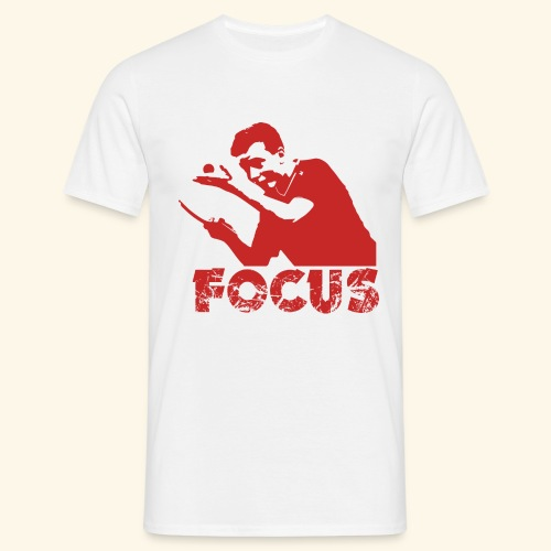 Focus on the GAME and Win the Championship - Männer T-Shirt