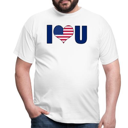 I love u USA - T-skjorte for menn