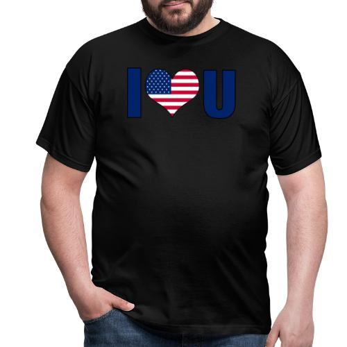 I love u USA - Men's T-Shirt
