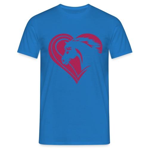 Iheart horses - Männer T-Shirt
