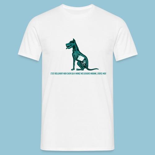 T-shirt pour homme imprimé Chien au Rayon-X - T-shirt Homme